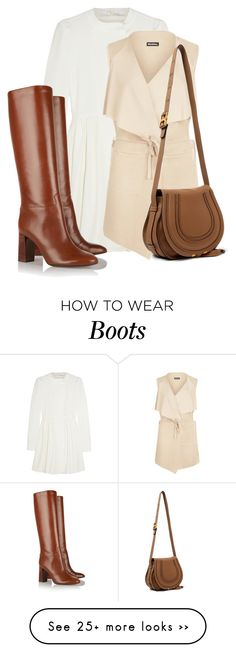"""""""Cute & Casual in a Dress and Boots"""" by bliznec on Polyvore featuring moda, Chloé, WearAll e Tory Burch"""