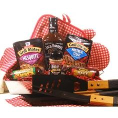 """Delight Expressions™ """"Fire It Up"""" BBQ Gift Basket - A Great Birthday Gift for Him! A Father's Day Gift Idea!"""