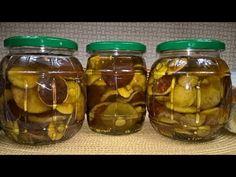 Grzyby Marynowane na Zimę - Podgrzybki marynowane - Marynowane grzyby leśne - YouTube Pickles, Cucumber, Canning, Food, Preserve, Diet, Kitchens, Mushroom, Polish Food Recipes