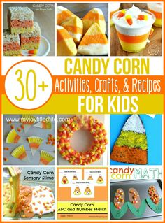 Candy Corn Activities, Crafts, and Recipes for Kids - Fall Crafts For Toddlers Fall Crafts For Toddlers, Halloween Activities For Kids, Autumn Activities, Halloween Fun, Kids Crafts, Family Activities, Candy Corn Crafts, Food Crafts, Autumn Theme