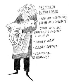 """bloodyhellharry: """" Underrated Harry Potter Characters Discovered I had a new favourite character while I was drawing this one, also check out Paul McCartney telling a goat joke. """""""