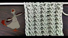 Вязание спицами. Узор Гусиные лапки - YouTube
