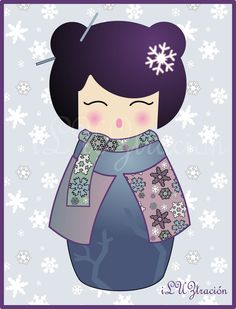 Kokeshi Invierno Pendientera | Flickr - Photo Sharing!