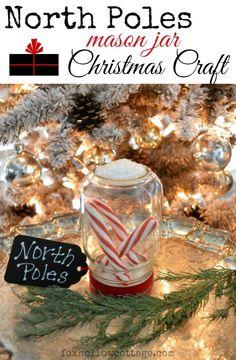 Diy #christmascraft faux vintage look snow globe - #masonjar #christmasdecoratingidea