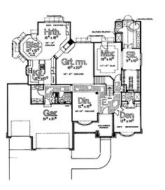 One story Home Plans HOMEPW05757 - 2,317 Square Feet, 2 Bedroom 2 Bathroom Ranch Home with 3 Garage Bays