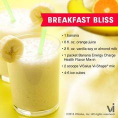 Breakfast Bliss Vi-Shake Recipe #vishape #visalus #bodybyvi #recipes Breakfast Bliss Vi-Shake recipe http://www.iweightloss.com/blog/vi-shake/