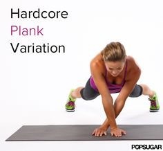 Hard-Core Core Move: Plank Side Walk - Bored with the usual planks? Take your plank for a sideways walk with this move that'll target the core as well as the upper body. If shapely deltoids are your passion, this move will make them happen. Lower Ab Workouts, Running Workouts, Fun Workouts, Stomach Workouts, Cardio Workouts, Workout Routines, Fitness Workouts, Fitness Tips, Fitness Motivation