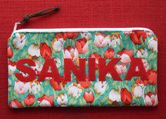 Personalised appliqué name pouch Applique, My Etsy Shop, Pouch, Sewing, Bags, Handbags, Dressmaking, Taschen, Purse