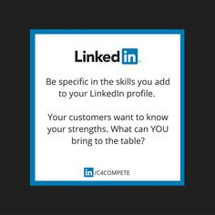 LinkedIn Tip: When you're putting together your LinkedIn profile, consider the key skills your ideal client would be looking for. We often think about the obvious skills based on our profession. It's important to put ourselves in the customer's shoes and think about the bigger picture. This can be things like customer service, customer retention, after sales support etc.