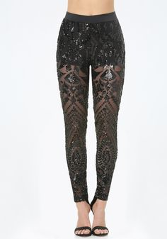 Sheer Deco Sequin Leggings                                                                                                                                                                                 More