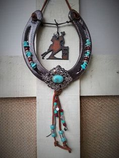 Cowgirl Gifts, Horseshoe Decor, Horseshoe Art, Southwest Inspired, Equestrian Gifts, Horse Decor, Rustic Metal, Western Decor, Ranch Life
