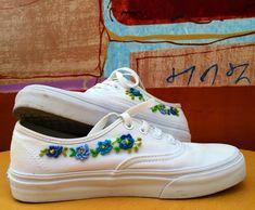 eae0082777  Vans bordados a mano Flower Embroidery