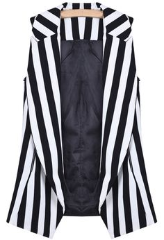 Black and White Stripe Steampunk Vest, Loulin Rouge $33.33
