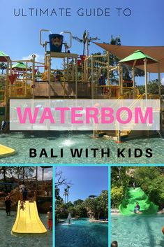 Heading to Waterbom Bali with kids. Check out this guide from everything we have learnt from 5 visits! Bali With Kids, Travel With Kids, Family Travel, Family Vacations, Bali Travel Guide, Asia Travel, Travel Tips, Travel Destinations, Gili Islands Bali