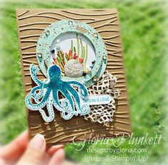 Bildergebnis für sea of textures stampin up Octopus Card, Sea Texture, Mini Albums, Nautical Cards, Nautical Theme, Beach Cards, Stampin Up Catalog, Shaker Cards, Cute Cards