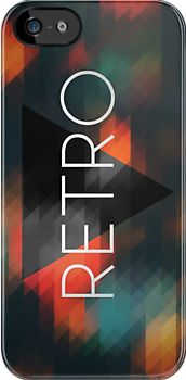 Hipster Retro Triangles Mosaic iPhone Cover Design.