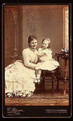 Queen Emma of the Netherlands with her daughter Wilhelmina