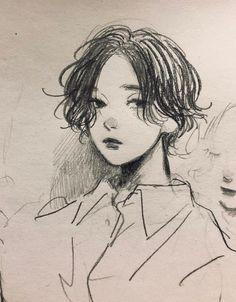 Pencil Art Drawings, Art Drawings Sketches, Cute Drawings, Sketch Art, Cartoon Kunst, Cartoon Art, Cartoon Drawings, Arte Indie, Japon Illustration