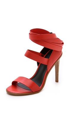 Tibi Pierce Ankle Wrap Sandals