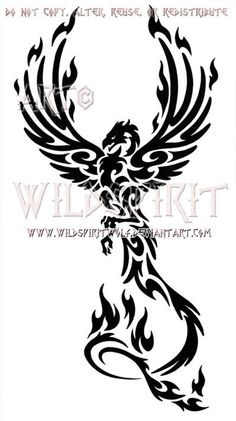 Majestic Tribal Phoenix Design by WildSpiritWolf on deviantART