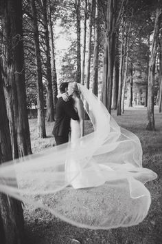 What better way to celebrate our anniversary {the anniversary gift of silk!} than with an image of our bride Linnea and her gorgeous, flowing, silk trimmed veil! Image by Michelle Gardella - Veil by Lacey Eden Summer Wedding, Our Wedding, Wedding Ideas, Black And White Love, Little Black Books, Pictures Of The Week, Wedding Couples, Bridal Accessories, Newlyweds