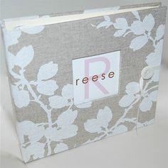 handmade baby memory book...   love.