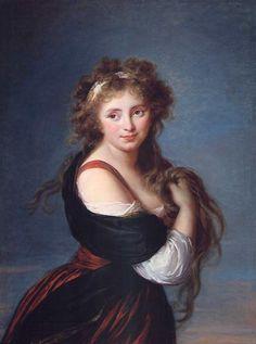 Portrait of Mme D'Aguesseau - Louise Elisabeth Vigee Le Brun