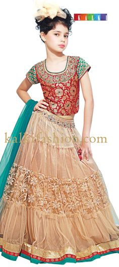 Buy it now  http://www.kalkifashion.com/red-and-gold-ghagra-choli-with-embroidered-neckline.html Red and gold ghagra choli with embroidered neckline.
