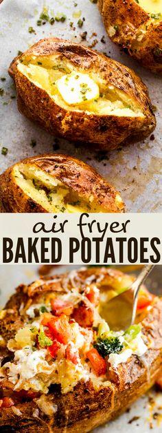 Side Dish Recipes, Dinner Recipes, Yummy Recipes, Grill Recipes, Retro Recipes, Yummy Food, Air Fryer Baked Potato, Making Baked Potatoes, Potato Dishes
