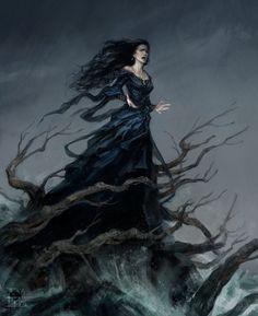 ArtStation - The Cry of a Barren Woman, Felipe [Fesbra] Escobar Dark Fantasy Art, Fantasy Artwork, Dark Art, Fantasy Inspiration, Character Inspiration, Character Art, Story Inspiration, Fantasy Characters, Female Characters
