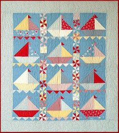 Love the patterns on Hollyhock Quilts, perfect for the next little baby boy in the family!