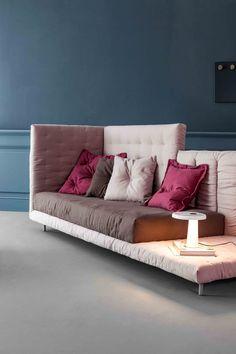 ALVAR Sofa bed by Bonaldo design Giuseppe Viganò Sofa Furniture, Modern Furniture, Furniture Design, Furniture Stores, Interior Exterior, Interior Design, Sofa Bed Design, Sofa Styling, Best Sofa
