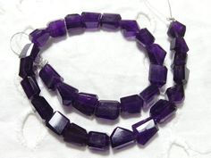 Natural African Amethyst Faceted 8-10 MM | Amethyst Tumbled | Amethyst Nuggets | Purple Amethyst Beads | 10 Inch Strand | Gemstone Supplier