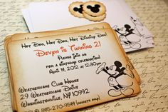 Vintage Inspired Customized Mickey Mouse Party by JacquelynVaccaro @Jennie Lee