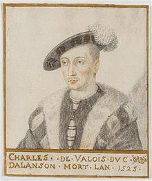 Charles IV de Valois,duc d'Alençon (1489-1525 à Lyon), était un prince de sang de la maison de Valois. Il était le beau-frère de François I° et son plus proche hériter dans l'ordre de la succession au trône de France. Mort sans postérité, il est le dernier représentant de la branche des Valois-Alençon. Il épousa en 1509 Marguerite d'Angoulême mais n'eurent pas d'enfants Adele, Marguerite De Navarre, Roi George, French Revolution, Royal House, France, 16th Century, Les Oeuvres, Baseball Cards