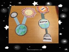 Hands On Craft to show how the moon orbits the earth and the earth orbits the sun