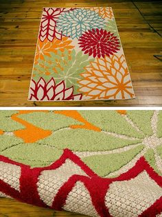 This indoor/outdoor area rug from @homedepot will liven up any hearth. #paypalit to add a bright accent to your home.
