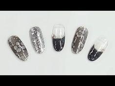 [시크릿스타걸] 블랙믹싱 플라워네일아트 / Mixing Black Flower nail art | POLARIS Manicure, Nail Art, Painting, Korean, Flowers, Nail Polish Art, Nail Manicure, Nails, Korean Language