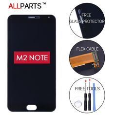 100% test orijinal meizu m2 note lcd için 5.5 ''1920x1080 meilan not 2 ekran meizu m2 note için çerçeve ile dokunmatik ekran LCD