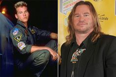VAL KILMER---im Morrison is rolling over in his grave. The once-steamy actor started his career with the hilarious comedy Top Secret!, and went on to star in hit movies such as Top Gun, The Doors and Batman Forever. It's been many years since his last big hit, and it seems we're left only with the 'big' part and no hit around. What a shame.