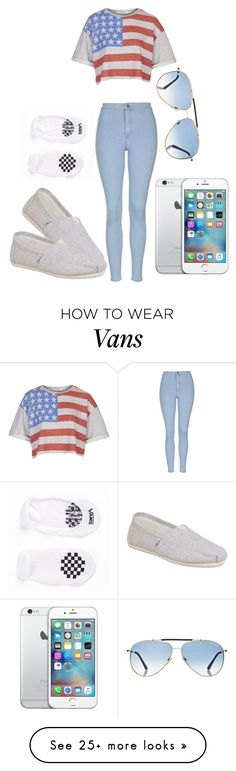 """""""Untitled #90"""" by loveme-dxx on Polyvore featuring Topshop, Tom Ford, TOMS, Vans, women's clothing, women, female, woman, misses and juniors"""