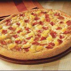Pizza de mozzarella, jamón y ananá receta - Recetas de Allrecipes