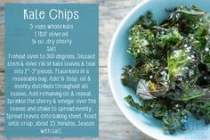 Kale Chips for TLS Weight Loss programs. Find this and more at TLSslim.com