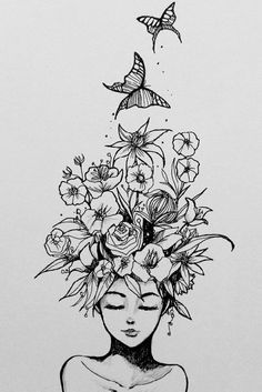 … - - Laub b & b. … – – -Laub b & b. … - - Laub b & b. … – – - La imagen puede contener: dibujo Unique 30 sunflower small tattoos design ideas for women Girl With Coffee Cup - Miscellaneous Vectors - - 45 Wonderful Butterfly Tattoo Idea. Tattoo Sketches, Drawing Sketches, Drawing Tips, Drawing Drawing, Drawing Ideas, Cool Tattoo Drawings, Doodle Art Drawing, Diy Jewelry Unique, Pencil Art Drawings