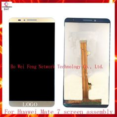 408.48$  Watch now - http://ali4fv.worldwells.pw/go.php?t=32771000873 - 10Pcs/lot DHL 100% Tested For Huawei Mate 7 Lcd Display Assembly Complete+Touch Screen Digitizer Gold Black White Free Shipping 408.48$