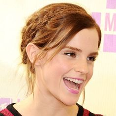 Emma Watson with plait hairstyle