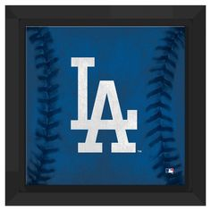Los Angeles Dodgers Logo Framed Canvas, Blue