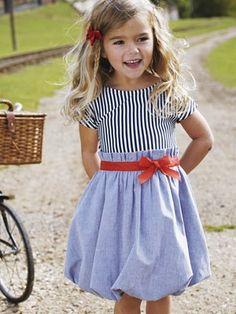 stripe bubble dress