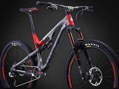 The Recluse in traditional Intense Red and Grey - matte finish. Turning heads at a dealer near you. Intense Tracer, Dirt Scooter, Bike Trails, Red And Grey, Rocky Mountains, Mountain Biking, Instagram Posts, Bike Stuff, Turning