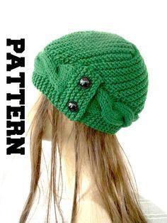 Digital  Hat Knitting PATTERN PDF   Instant Download Knit by Ebruk, $7.00